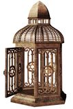 Steampunk cage. 3D render of an old rusty cage vector illustration