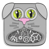 Steampunk cat Stock Image