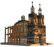 Steampunk cathedral Stock Images