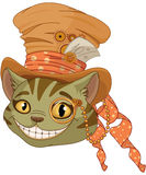 Steampunk Cheshire cat in Top Hat Royalty Free Stock Photography