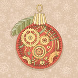 Steampunk christmas ball Stock Image