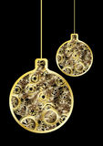 Steampunk christmas balls Royalty Free Stock Image