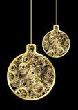 Steampunk christmas balls Royalty Free Stock Image