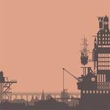 Steampunk city Stock Image
