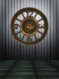 Steampunk clock background Stock Photography