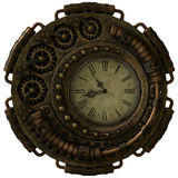 Steampunk Clock, 3d CG. A 3d computer graphics of a clock in Steampunk style Stock Photo