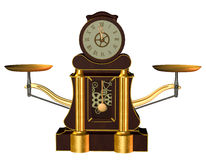 Steampunk Clock royalty free illustration