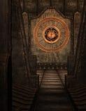 Steampunk clock scene Stock Photos
