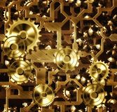 Steampunk cogs and gears Royalty Free Stock Images