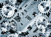 Steampunk cogs and gears Royalty Free Stock Image
