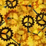 Steampunk cogwheel grunge seamless Royalty Free Stock Photos