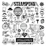 Steampunk collection, hand drawn vector illustration Stock Image