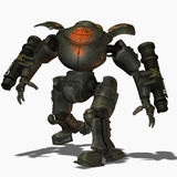 Steampunk combat robots Stock Images