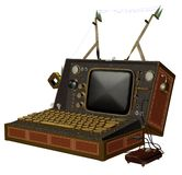 Steampunk computer 1 royalty free illustration