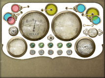 Steampunk control panel isolated selection Stock Photos