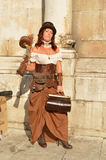 Steampunk girl at Lucca Comics and Games 2014 Stock Images