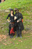 Steampunk couple at Lucca Comics and Games 2014 Stock Photos