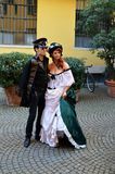 Steampunk couple Royalty Free Stock Image