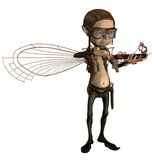 Steampunk cupid 1. 3D render of a cute steampunk cupid vector illustration