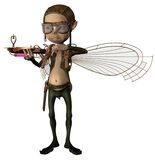 Steampunk cupid 2. 3D render of a fantasy steampunk cupid with iron wings vector illustration