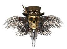 Steampunk czaszka royalty ilustracja