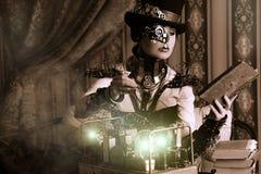 Steampunk de la mujer fotos de archivo