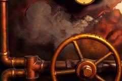 Steampunk do vintage do fundo fotos de stock royalty free