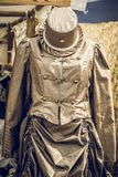 Steampunk Dress with Hat royalty free stock photo