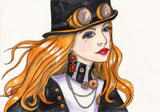 steamPunk Dziewczyna Zdjęcie Stock