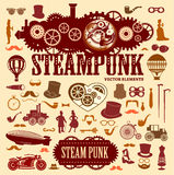 Steampunk elements. Vector icons Stock Photos