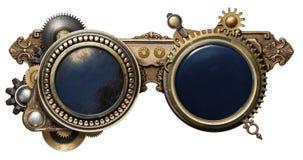 Steampunk exponeringsglas Arkivbild