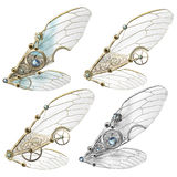 Steampunk Faerie Wings. Four variations of steampunk themed faerie wings