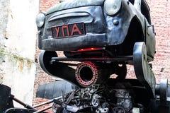Steampunk-Fahrzeug in Ukrain Lizenzfreies Stockbild