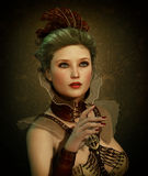 Steampunk Fashion Girl 3d CG Royalty Free Stock Image