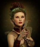 Steampunk Fashion Girl 3d CG royalty free illustration