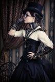 Steampunk femenino Imágenes de archivo libres de regalías