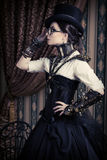 Steampunk femminile Immagini Stock Libere da Diritti