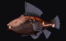 Steampunk Fish Royalty Free Stock Photography