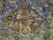 Steampunk fish design Royalty Free Stock Photography