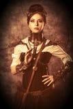 Steampunk flicka arkivfoto