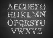 Steampunk Font On Blackboard Stock Photo