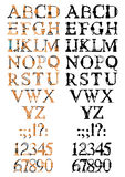 Steampunk font. Steampunk letter made of different technical pieces: pipes, blocks, screws, etc Stock Photography