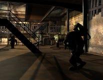 Steampunk Forscher im Farbton lizenzfreie stockfotos