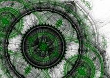 Steampunk fractal Obraz Stock