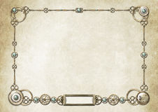 Steampunk Frame 2 Royalty Free Stock Photo