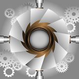 Steampunk frame Royalty Free Stock Images