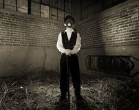 Steampunk Gas Mask Grunge Royalty Free Stock Images
