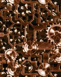 Steampunk geïnspireerdel radertjes royalty-vrije illustratie