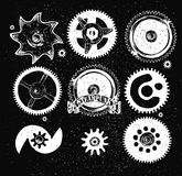 Steampunk gear collection Royalty Free Stock Images