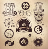 Steampunk gear collection Royalty Free Stock Photos